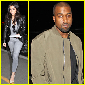 Kim Kardashian & Kanye West Are A Stylish Duo Jetting Off To New York City!