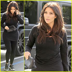 Kim Kardashian Makes a Very Dark Entrance at Production Office!