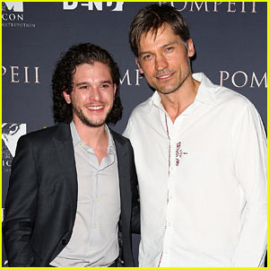 'Game of Thrones' Hunks Kit Harington & Nikolaj Coster-Waldau Pair Up at 'Pompeii' Premiere!
