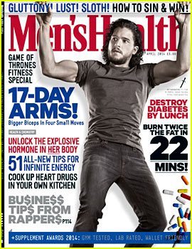Kit Harington's Muscles Bulge Out of His Shirt for 'Men's Health UK' April 2014