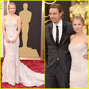 Kristen Bell Brings Burrito on Oscars 2014 Red Carpet with Dax Shepard!