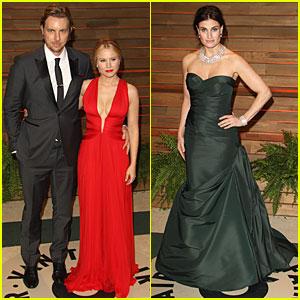 Kristen Bell & Idina Menzel Bring 'Frozen' Joy to Vanity Fair Oscars Party!