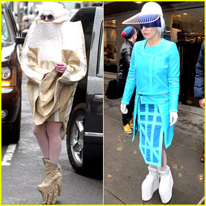 Lady Gaga Rocks Two Very Interesting Outfits on Her Birthday!