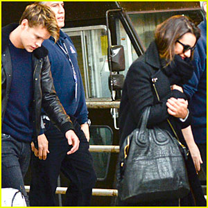 Lea Michele & Chord Overstreet Arrive in New York Together!
