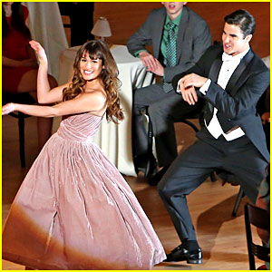 Lea Michele & Darren Criss Film Classic Broadway Song for 'Glee'