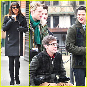 Lea Michele Warms Up Before Early Morning 'Glee' Shoot!