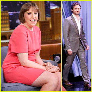 Lena Dunham & Hugh Dancy Play Fun Game of Pyramid on 'Tonight Show'!