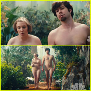 Lena Dunham Goes Naked for SNL's 'Girls' Parody - Watch Her Sketches Here!
