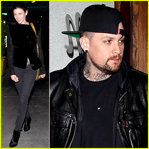 Liberty Ross & Benji Madden Grab Dinner at Madeo