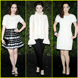 Lily Collins & Eve Hewson Party with Chanel Before the Oscars!