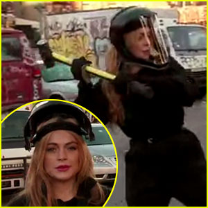 Lindsay Lohan Destroys a Car with Billy Eichner Over 'How I Met Your Mother' Rage!
