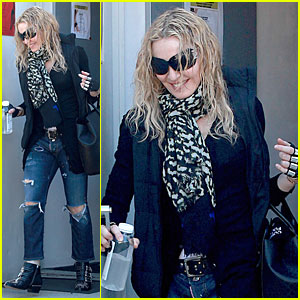 Madonna Doesn't Mess Around in Metal Fingerless Gloves at the Gym!