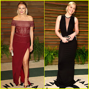 Malin Akerman & Abbie Cornish - Vanity Fair Oscars Party 2014