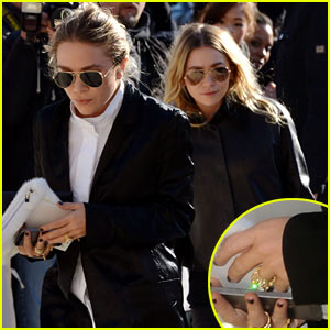 Mary-Kate Olsen Flashes Huge Engagement Ring at Louis Vuitton Show with Sister Ashley