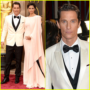 Matthew McConaughey & Camila Alves: Matching Couple on Oscars 2014 Red Carpet!