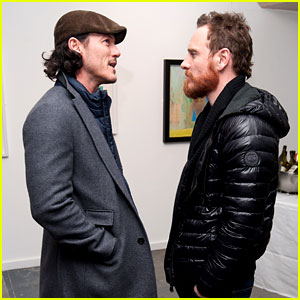 Michael Fassbender & Luke Evans Let Us Into Their Conversation at London Art Exhibit