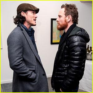 Michael Fassbender & Luke Evans Let Us Into Their Conversation at London Art Exhibit