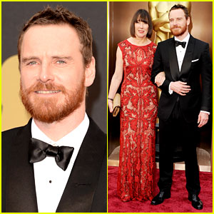 Michael Fassbender Takes His Mom to the Oscars 2014