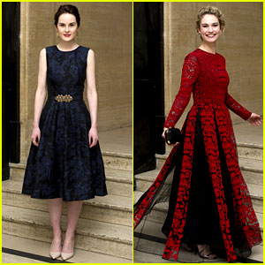 Michelle Dockery & Lily James Glam Up with the 'Downton Abbey' Cast for Changing Faces Gala