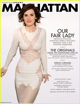 Michelle Dockery Rocks Sexy White Dress for 'Manhattan' March 2014
