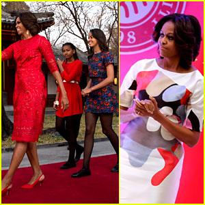 Michelle Obama Travels Around China - Three Days of Photos!