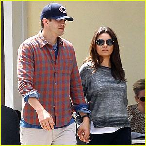 Mila Kunis & Ashton Kutcher Hold Hands Amid More Pregnancy Rumors