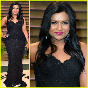 Mindy Kaling Sparkles at Vanity Fair Oscars Party 2014