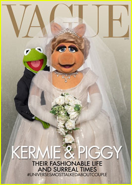 Miss Piggy & Kermit Spoof Kim Kardashian's 'Vogue' Cover - See it Here!