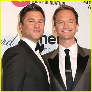 Neil Patrick Harris & David Burtka Are Partners in Crime at Elton John Oscars Party 2014
