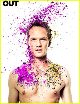 Neil Patrick Harris: Shirtless & Covered in Glitter for 'Out' Mag!