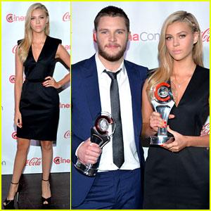 Transformers 4's Nicola Peltz & Jack Reynor Win Rising Star Awards at CinemaCon 2014!