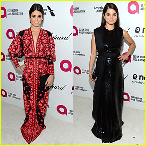 Nikki Reed & Melonie Diaz Rock Red & Black at Elton John Oscars Party 2014
