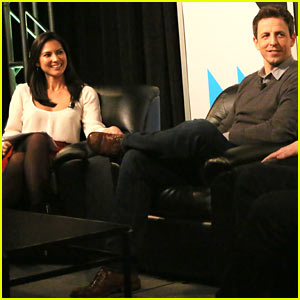 Olivia Munn Moderates 'Late Night with Seth Meyers' Panel at SXSW!