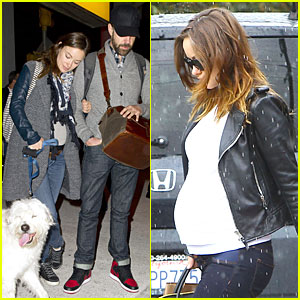 Olivia Wilde Reduces Pregnancy Fatigue with Jason Sudeikis' Shoulder!