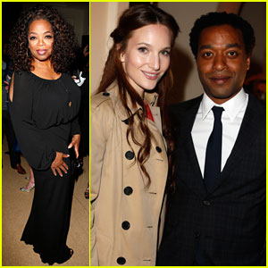 Oprah Winfrey & Chiwetel Ejiofor Attend Pre-Oscars Party