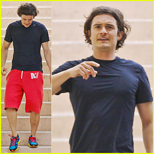 Orlando Bloom Gets His Hot Body By Running Stairs!