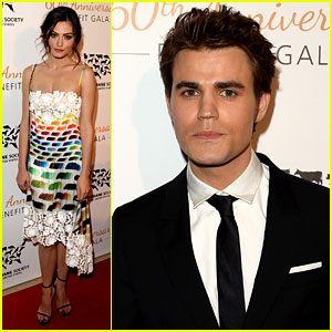 Paul Wesley & Phoebe Tonkin Show Support for Humane Society