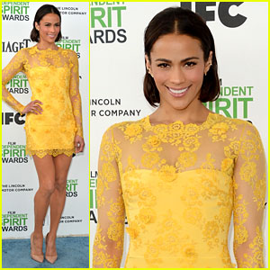 Paula Patton Steps Out After Split at Independent Spirit Awards 2014