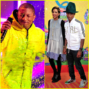 Pharrell Williams Gets Slimed at Kids' Choice Awards 2014!