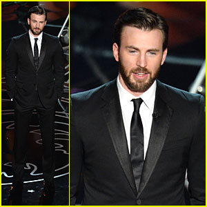 Presenter Chris Evans Suits Up at Oscars 2014