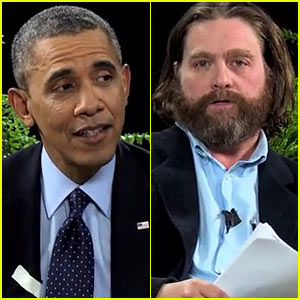 President Barack Obama & Zach Galifianakis Throw Insults Back & Forth for 'Between Two Ferns' (Video)