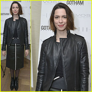 Rebecca Hall Sports Leather for Gotham Magazine Cover Party!