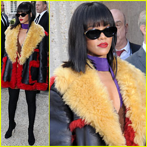 Rihanna Brings Her Star Power to Miu Miu Fashion Show