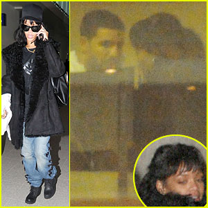 Rihanna Departs Manchester After Cozy Dinner with Drake!