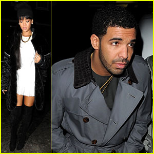 Rihanna & Drake Make Separate Entrances for Dinner in London