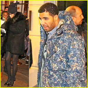 Rihanna & Drake Spotted on Dinner Date in Amsterdam!