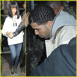 Rihanna is a Sexy Padlock For Drake at Cirque le Soir Club!
