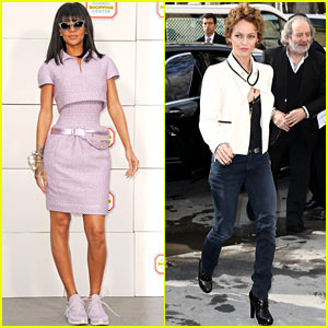 Rihanna Wears a Sneaker/Dress Combo to Chanel Fashion Show