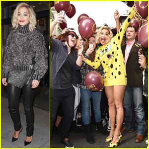 Rita Ora Premieres 'I Will Never Let You Down' at BBC Radio in SpongeBob SquarePants Outfit!
