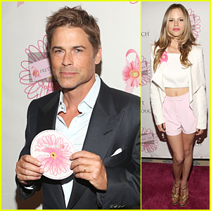 Rob Lowe & Halston Sage Show Support for Pretty In Pink Luncheon!